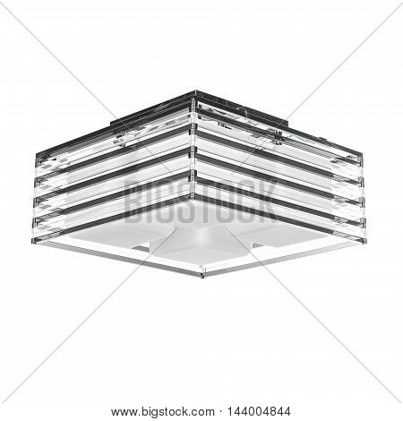 Modern chandelier isolated on a white background