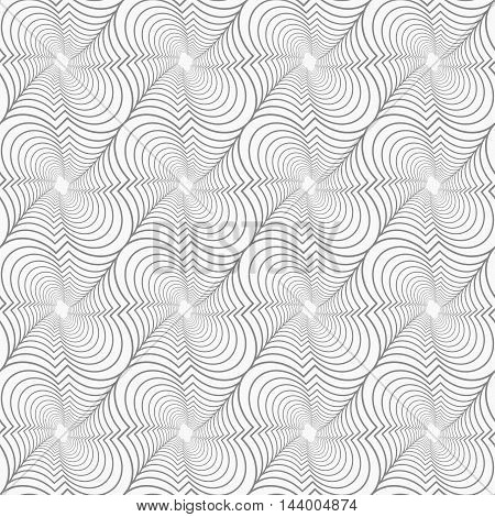 Slim Gray Diagonal Marrakesh Twisted Grid