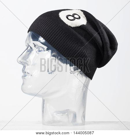 modern hat made of wool in a clear background
