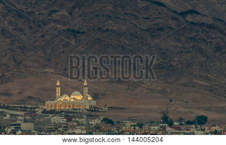 The biggest Jordanian mosque - Al-Sharif Al-Hussein Bin Ali, Aqaba city, Jordan.