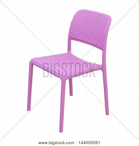 White modern chair isolated over white background