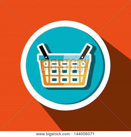 basket buy market shop vector illustration eps 10