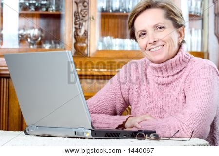 Mature Woman Smiles