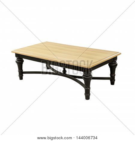 luxury table isolated on a white background