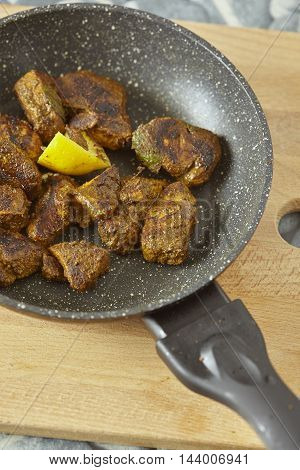 traditional recipe from india made wich meat and spices
