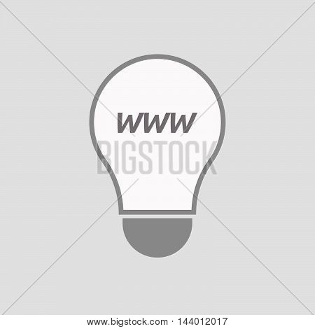 Isolated Line Art Light Bulb Icon With    The Text Www