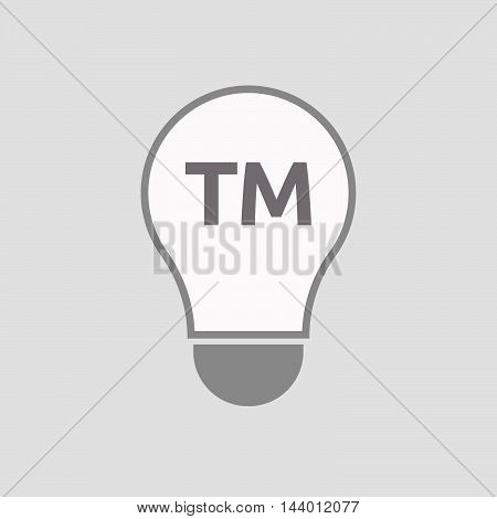 Isolated Line Art Light Bulb Icon With    The Text Tm