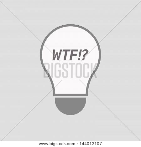 Isolated Line Art Light Bulb Icon With    The Text Wtf!?