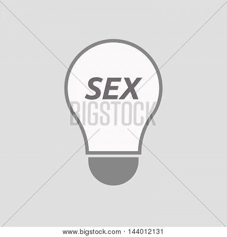 Isolated Line Art Light Bulb Icon With    The Text Sex