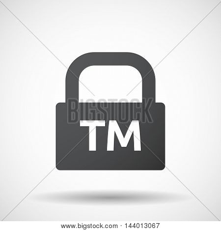 Isolated Closed Lock Pad Icon With    The Text Tm