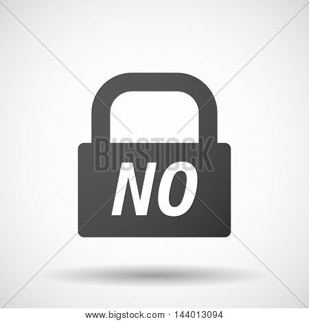Isolated Closed Lock Pad Icon With    The Text Blues