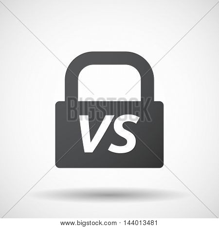 Isolated Closed Lock Pad Icon With    The Text Vs