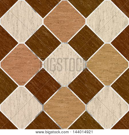 Brown synthetic floor tiles seamless generated texture.