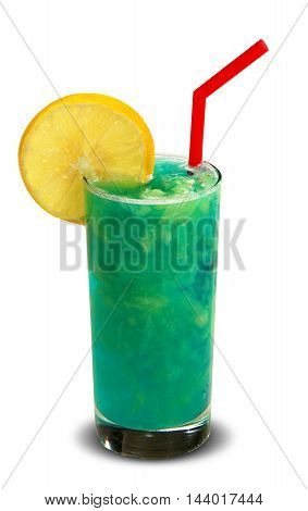 Traditional cold drink in summer. White background.