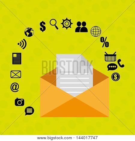 message envelope letter web vector illustration eps 10