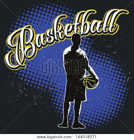 Streetball tournament label in modern style - stock vector
