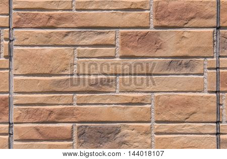 Brown Marble Brick Wall Abstract For Background
