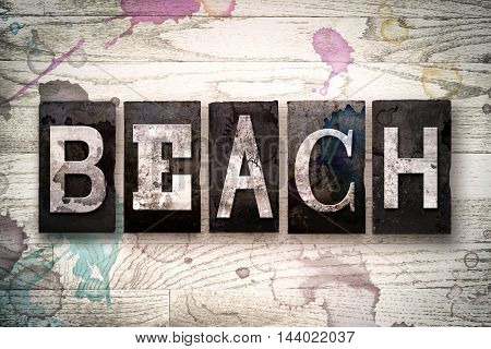 Beach Concept Metal Letterpress Type
