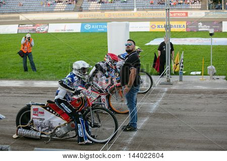 Speedway Riders On The Start