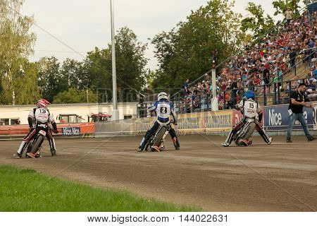Speedway Riders Prepare For Start