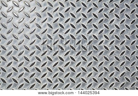 Steel floor pattern for background or texture.