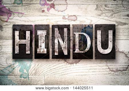 Hindu Concept Metal Letterpress Type