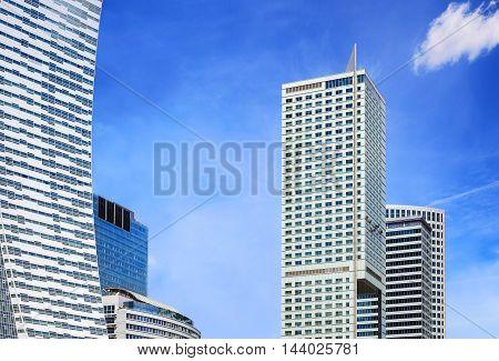 Modern Skyscrapers In Warsaw