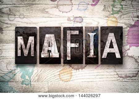Mafia Concept Metal Letterpress Type