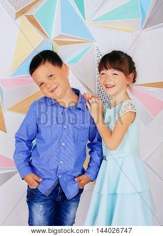 stylish, trendy children. The concept of childhood