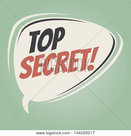 top secret retro speech bubble