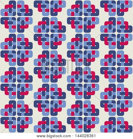 Celtic knot abstract seamless colorful pattern. Vector illustration