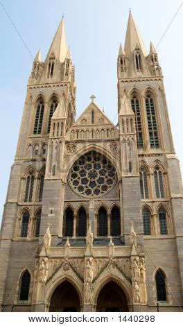 The Front Of Truro Cathedral, Cornwall, Uk