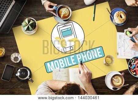 Mobile Phone Cellphone Cellular Communicate Concept