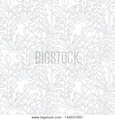 Abstract floral pattern. Leaves texture. Stylish abstract vector plant ornamental background