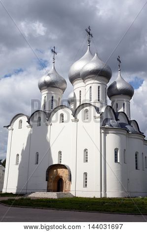 Sophia Cathedral - Orthodox church now a museum in Vologda Russia. Erected in 1568 - 1570 years on the orders of Ivan the Terrible