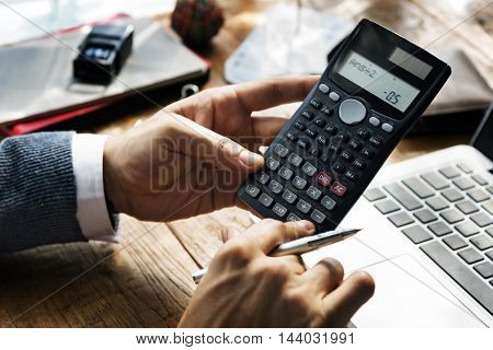 Calculator Finance Forex Stock Market Target Concept