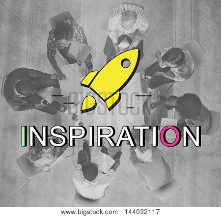 Innovation Launch Successful New Start Graphic Concept