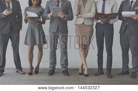 Businessmen Businesswomen Management Office Concept