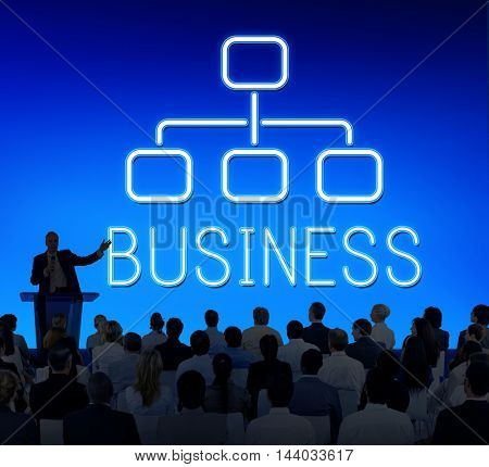 Business Organization Chart Company Concept