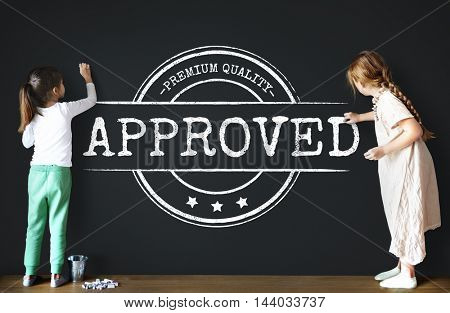 Approved Certified Business Stamp Concept