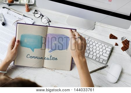 Communication Speech Bubble Symbol Concept