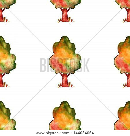 Image of autumn tree Hand drawn picture