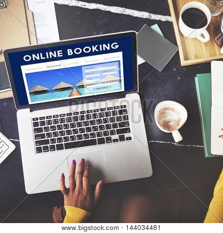 Holiday Reservation Website Interface Concept