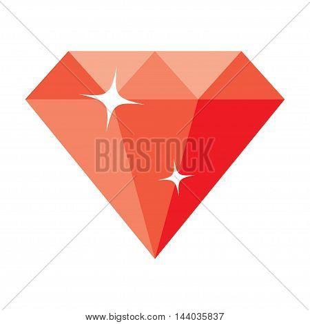diamond isolated on white background. vector illustration.