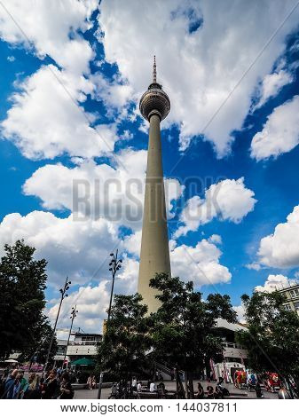 Fernsehturm (tv Tower) In Berlin (hdr)