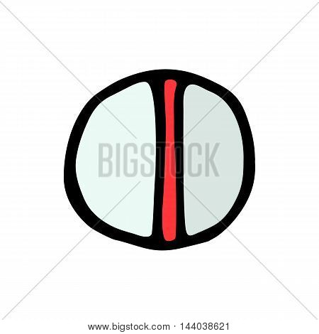 pill icon isolated on white background in style hand draw