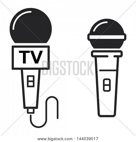 Microphone vector icon illustration