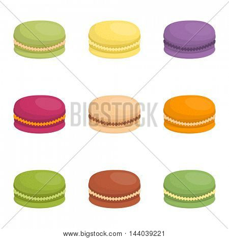 Macaroon cake vector illustration