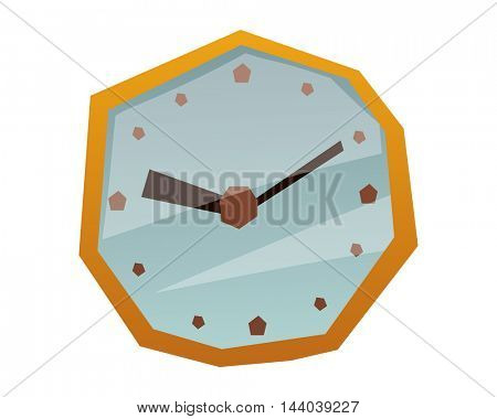 Clock face watch vector illustration