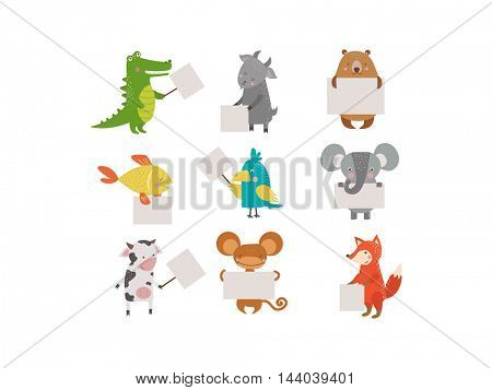 Cute animals vector character